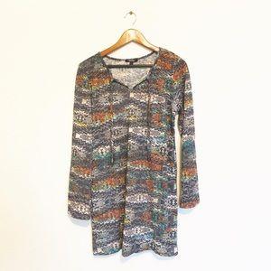 🌸 Aztec Tribal Print Knit Tunic